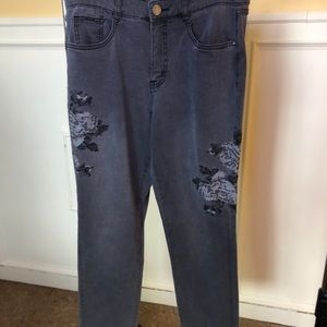 French dressing grey Suzanne jeans